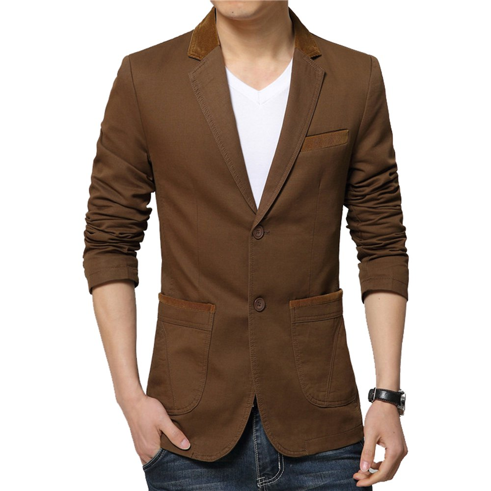 Fancy Winter Fall Spring Men Turn-Down Collar Overcoat Casual Fashion Slim Outwear Trench Coat