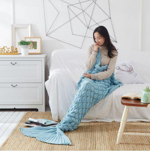 Best Knitting Fish Scale Design Mermaid Blanket Child Adult
