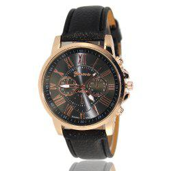 ZhouLianFa Women Quartz Leather Band Watch -