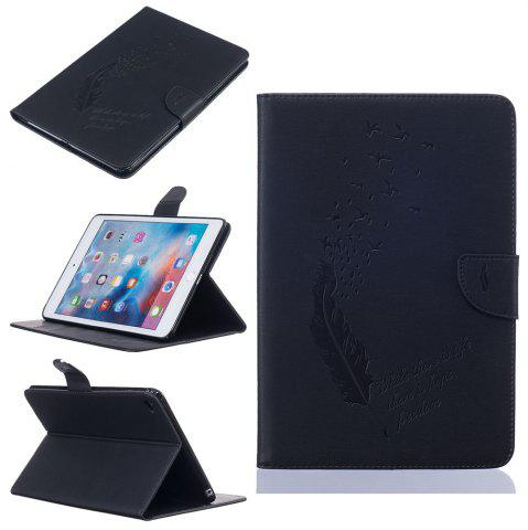Store Feather Pattern Embossing Card Slot Wallet Cover Case for iPad Mini 4