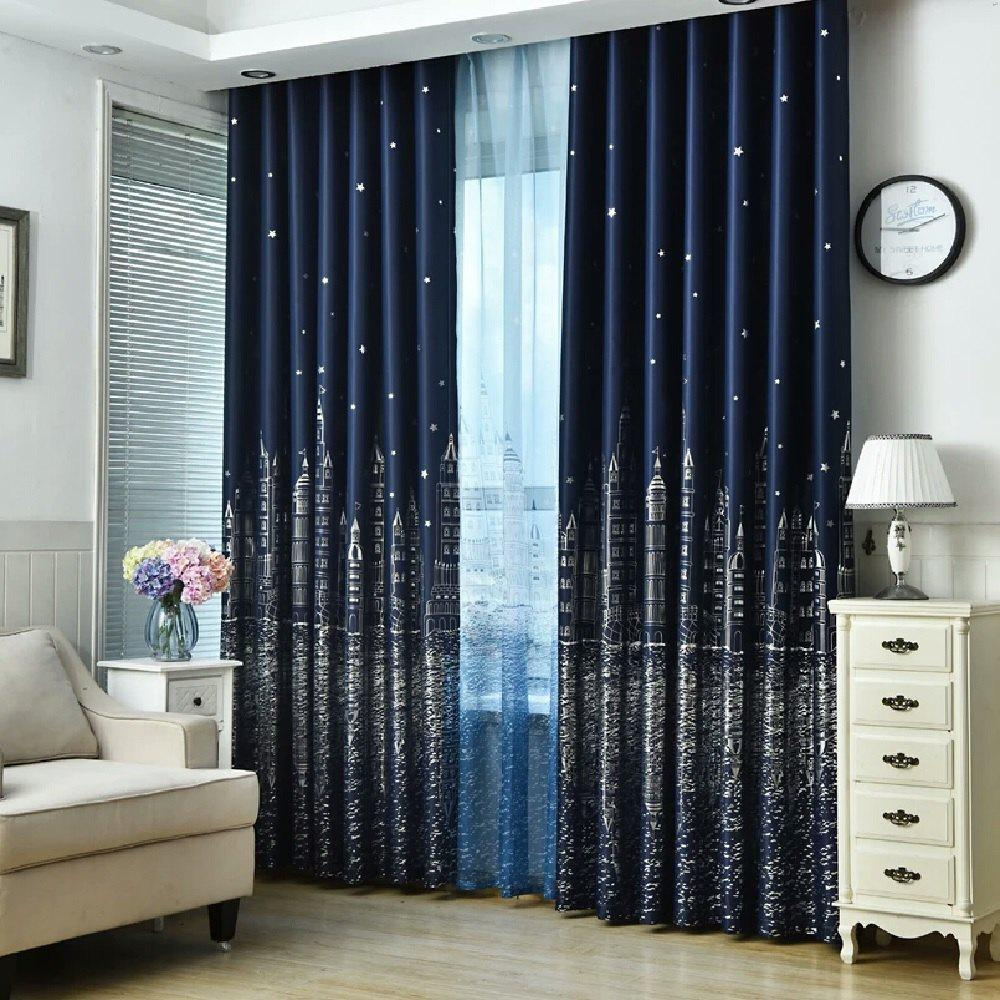 Castle Curtain Suitable for Children Room Matching Window Screening 240837501