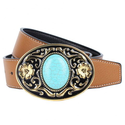 Shop The western cowboy belt of turquoise stone