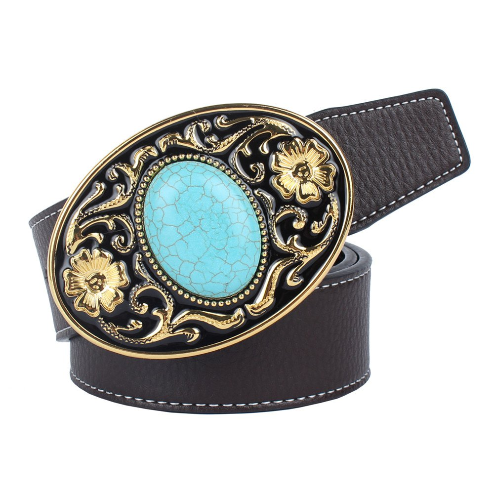 Outfit The western cowboy belt of turquoise stone