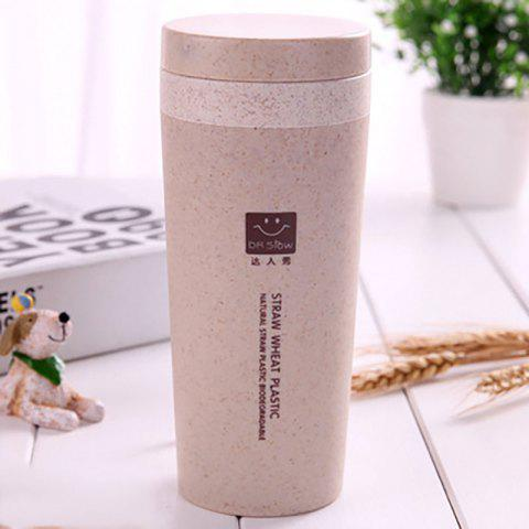 Outfits DIHE Wheat Straw Double Deck Vacuum Cup Cover Band Environmental Protection