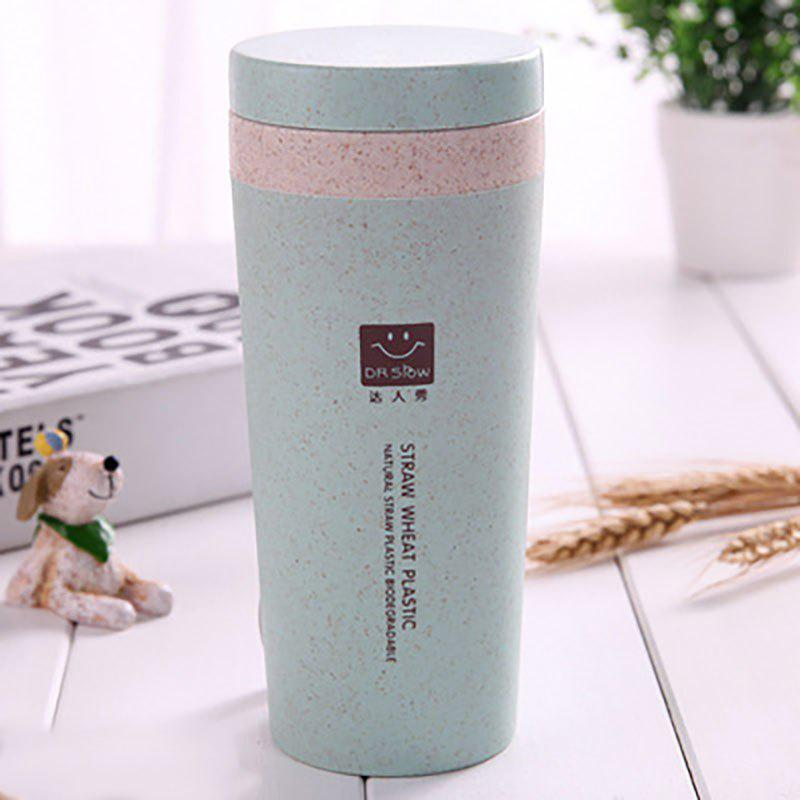 Fashion DIHE Wheat Straw Double Deck Vacuum Cup Cover Band Environmental Protection