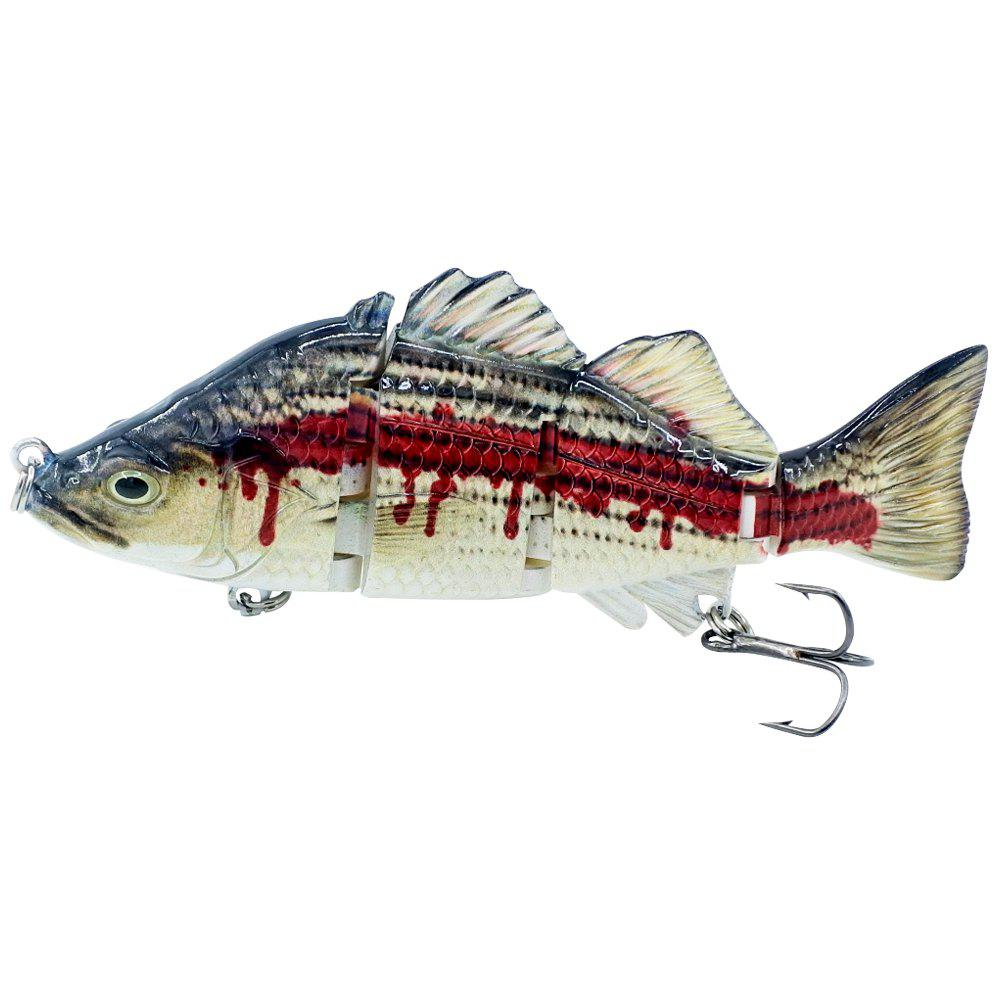 ABS Material 4 Section Swimbait Hard Multi Jointed Fishing Lure Bait for Bass Trout Fishing 240730901