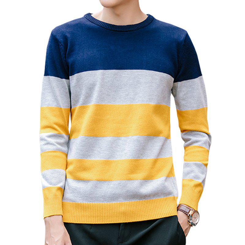 2018 Mens Youth Striped Sweater In Blue Yellow 4xl Rosegalcom