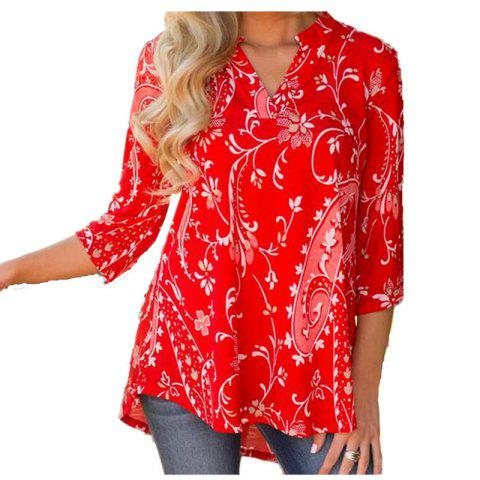 Fancy No Positioning Printing Big Size Blouse