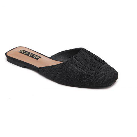 Outfit Ladies Rubber Flat Sole Covered  Slippers