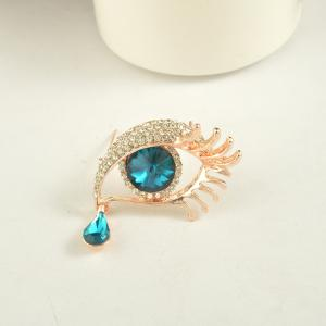 Angel'S Teardrop Brooches Broches for Women Vintage Evil Eye Angle Tear Brooch Wedding Hijab Scarf Pin Up Buckle Feminin -