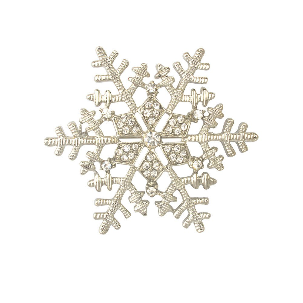 Best Christmas Gifts Snowflake Brooches For Women Garment Accessories Crystal Rhinestone Scarf Pins Brooches Jewelry
