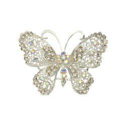 Butterfly Brooch for Women Rhinestone Broches Fashion Bijouterie Wedding Jewelry -