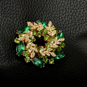 High-Grade  Brooches For Women  Korean Style Bauhinia Flower Corsage Crystal Rhinestone Brooch Pin Jewelry -