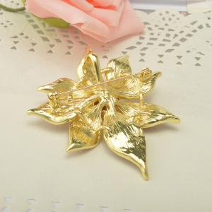 Crystal Flower Brooch Lapel Pin Fashion  Jewelry Women Wedding Hijab Pins Large Brooches For Women -