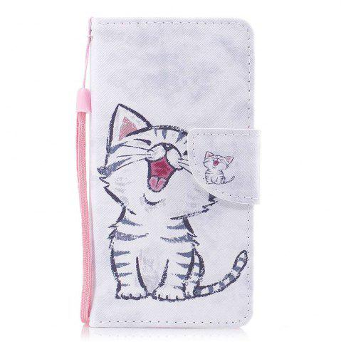 Red-Billed Cat Painted PU Phone Case для Wiko Lenny3