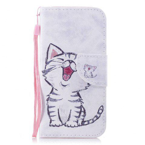 Red-Billed Cat Painted PU Phone Case для Wiko Lenny4