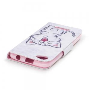 Red-Billed Cat Painted PU Phone Case для Wiko Lenny 3 Макс. -