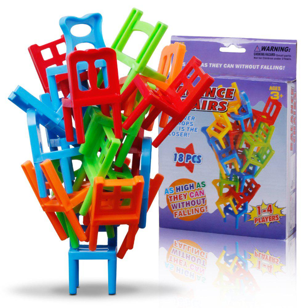 Image of Balance Chairs Board Game Children Educational Toy Balance Toy Puzzle Board Game Environmental Protection ABS Plastic