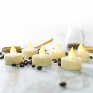 Set of 6pcs Realistic Flameless Tealight Candles Bright Battery Operated -