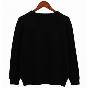 Street Fashion Style Embroidered Cartoon Pattern Long Sleeved Sweater -
