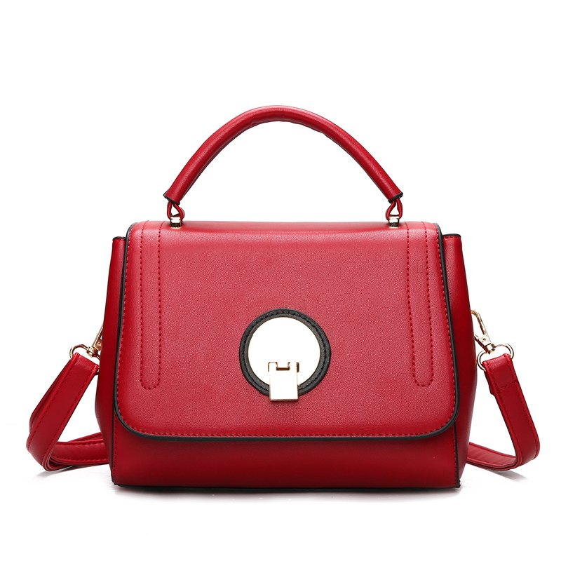 Discount Fashion Litchi Grain Lock with Bag