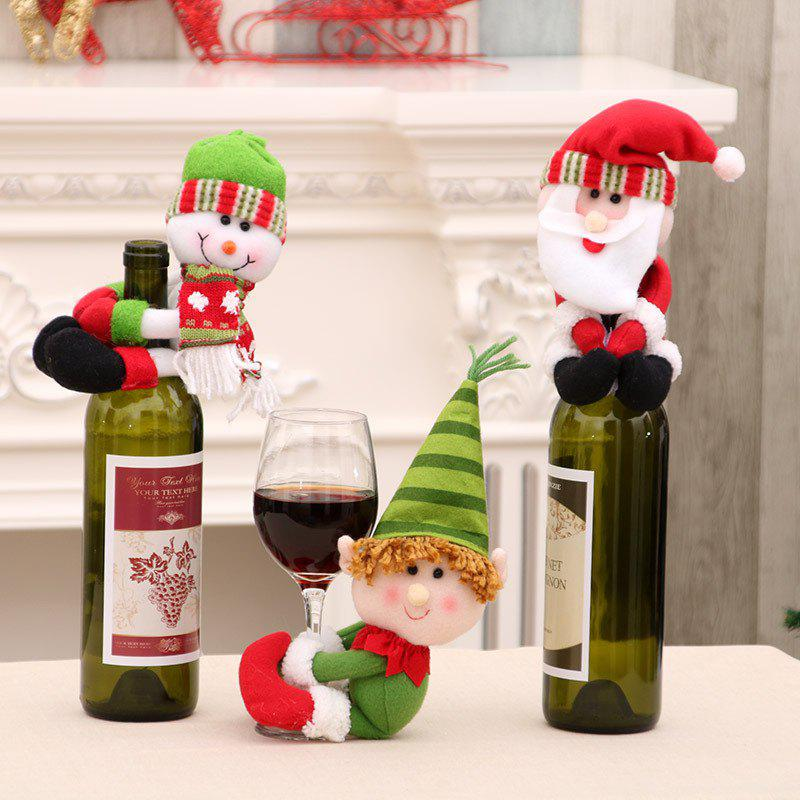Shop Set of 3 New Christmas Santa Claus Snowman Dolls Decorations Held Red Wine Bottle Bar Package Restaurant Decor Awesome G