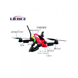 Lieber HAWK 280MM Professional 4 A-xis RC Drone with HD Camera 6 Gyro All-in-one Flight Control System FPV Racing Drone -
