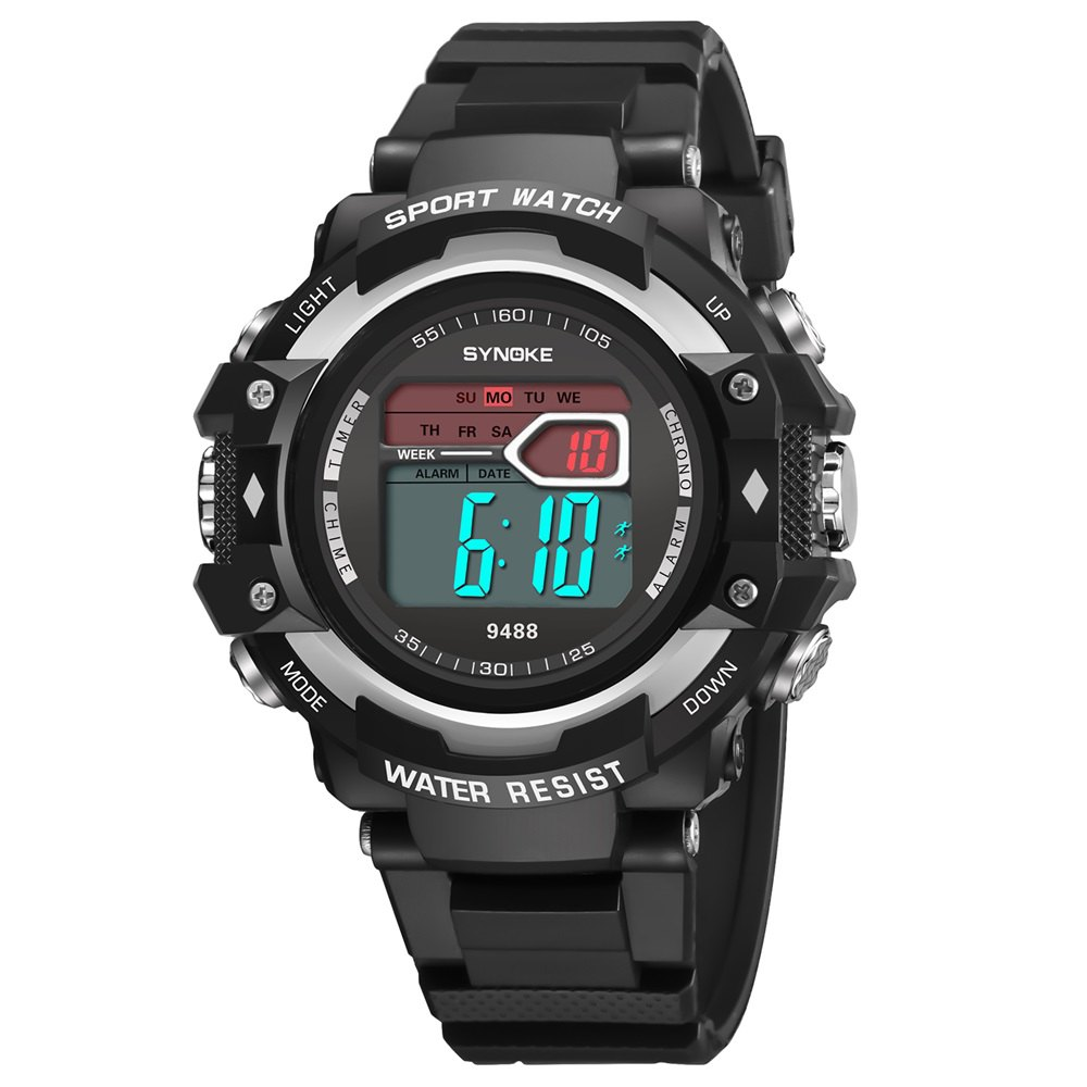 Best SYNOKE 9488 Student Fashion Sports Multi-Function Electronic Watch