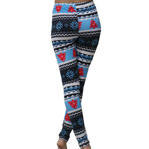 Outfits Non Positioning Snowflake Christmas Tree Pencil Pants