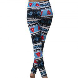 Non Positioning Snowflake Christmas Tree Pencil Pants -
