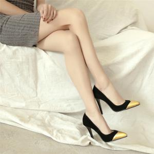 Miss Shoes High Heels with High Fashion and Elegant Single Shoes -