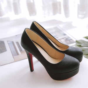 Miss Shoes A16 Round Head Thin and Elegant Single Shoes -
