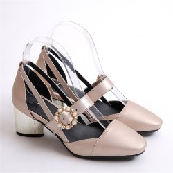 Miss Shoe 520 Square Head and High Heel Sandals -