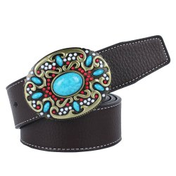Blue Gem Belt Leather -
