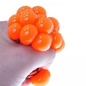 Soft Rubber Grape Ball Hand Wrist Squeeze Toy -