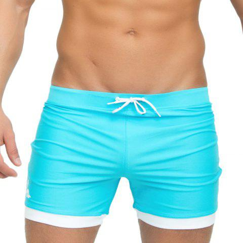 Taddlee Mens Maillots de bain Maillots de bain Swim Boxer Trunks Longue Couleur unie Noir Board Surf Shorts Grande taille Coffre traditionnel