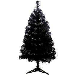 90CM Black Christmas Tree Christmas Tree Decorated with Gifts -