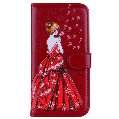 Buy Luxury  Shiny Embossed Girl Flip Leather Case for Samsung Galaxy S6