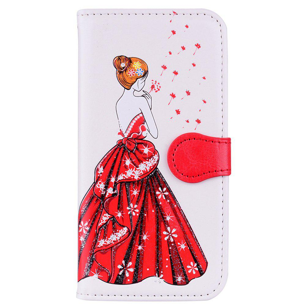 Store Luxury  Shiny Embossed Girl Flip Leather Case for Samsung Galaxy S6