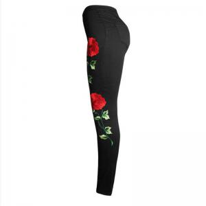 Embroidered Broken Black Jeans -
