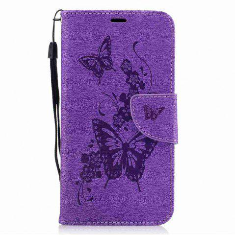 Affordable Embossed Peach Butterfly PU TPU Phone Case for HUAWEI P8 Lite 2017 / Honor P8 Lite 2017