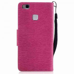 Embossed Peach Butterfly PU TPU Phone Case for Huawei P9 Lite -