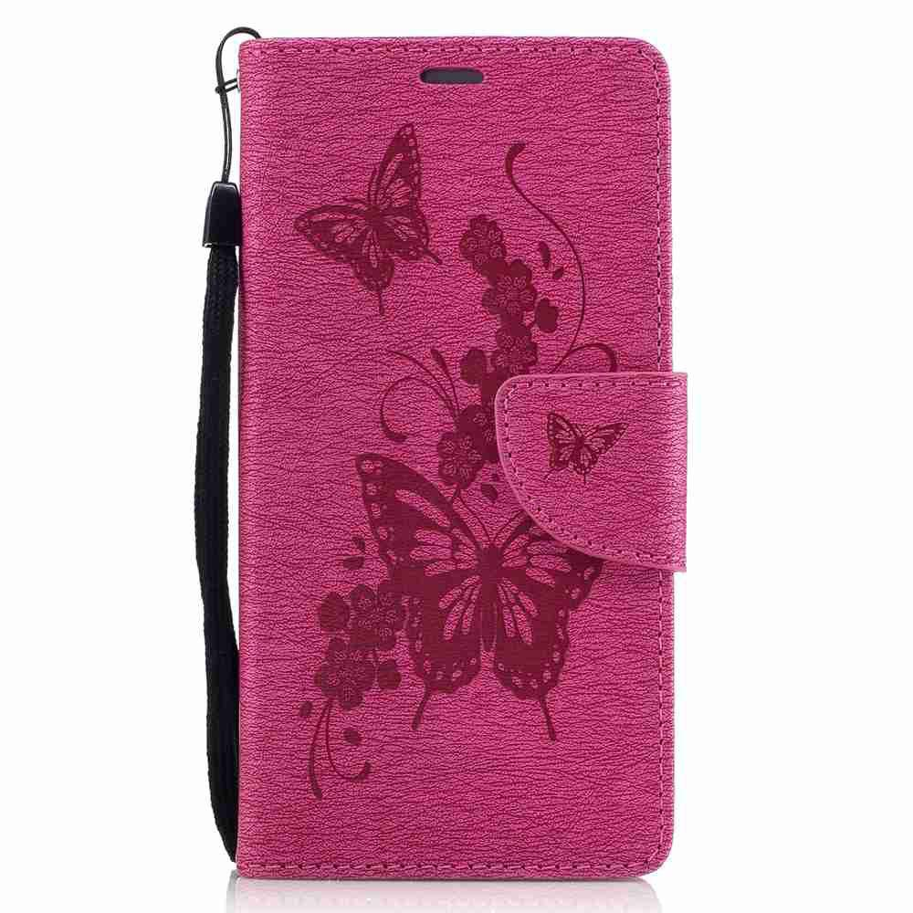 Discount Embossed Peach Butterfly PU TPU Phone Case for Huawei P9 Lite