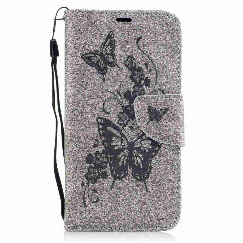 Outfits Embossed Peach Butterfly PU TPU Phone Case for ASUS Zentone 3 / Ze520kl