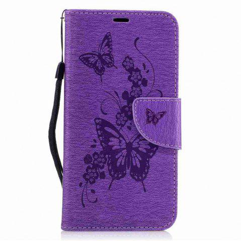 Sale Embossed Peach Butterfly PU TPU Phone Case for ASUS Zentone 3 / Ze520kl