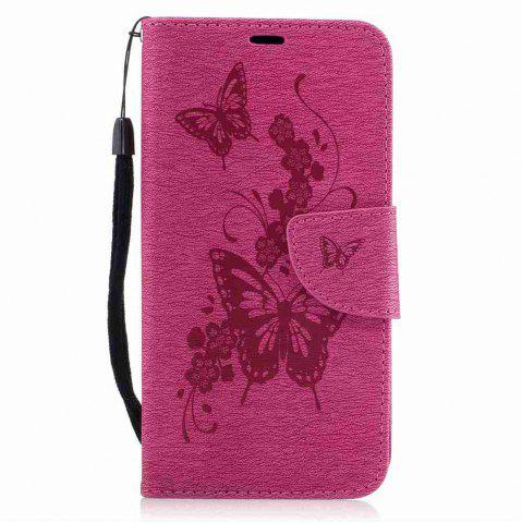 New Embossed Peach Butterfly PU TPU Phone Case for ASUS Zentone 3 / Ze520kl