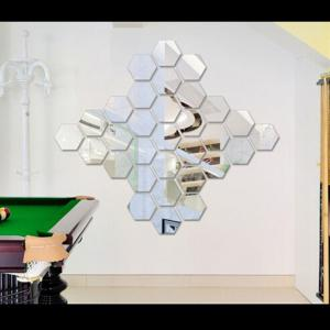 Hexagon 3D Art Diy Mirror Wall Stickers for Home Wall Decal -