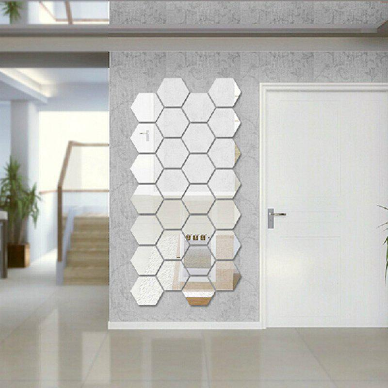 Cheap Hexagon 3D Art Diy Mirror Wall Stickers for Home Wall Decal