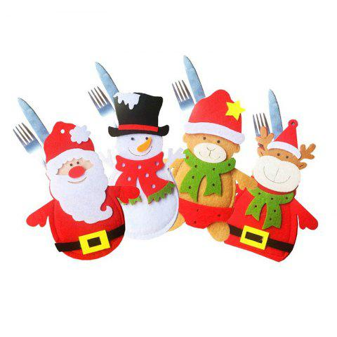 Trendy 4pcs Good Quality Christmas Knife And Fork Bags