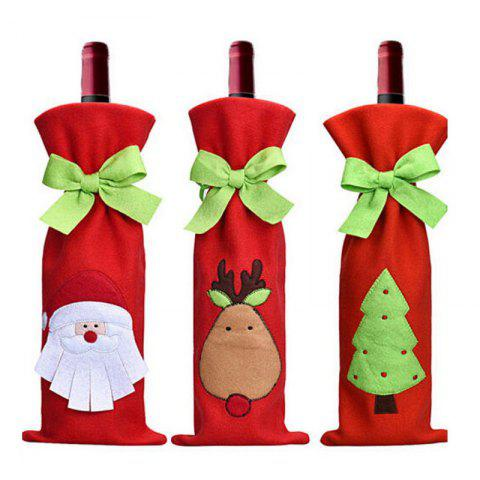 Affordable 3pcs Good Quality Christmas Wine Bottle Slipcovers